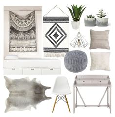 """""""Untitled #11033"""" by minimalmanhattan ❤ liked on Polyvore featuring interior, interiors, interior design, home, home decor, interior decorating, 4040 Locust, CB2, Nana' and Pier 1 Imports"""