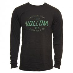 Volcom Mens Shirt Modern Militia LS Black
