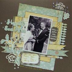 Wedding Scrapbook page #Cosmocricket