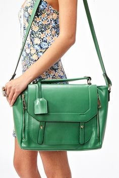 Blair Messenger Bag Green - Lyst