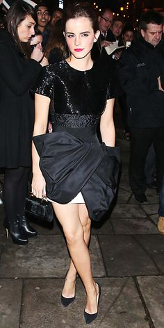 Look of the Day - February 19, 2014 - Emma Watson in Giambattista Valli from #InStyle