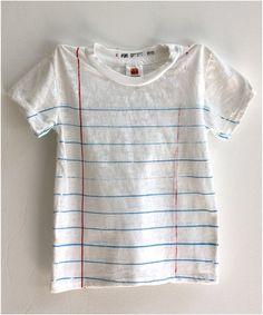 lined paper shirt