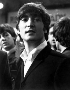 A Hard Day's Night - John Lennon  Very handsome shot, John.