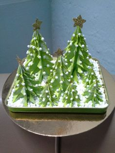 Christmas trees origami.......
