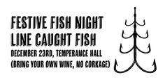Line caught fish night at Christmas at Chesham. Duende chef Tim Zekki,