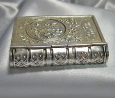Antique silver rosary box