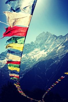 Invocation and Prayer ☽ Navigating the Mystery ☽ Prayer Flags, Kunzum Pass, Himachal Pradesh