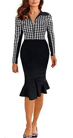 BAIMIL Women Long Sleeve Bodycon Vintage Cocktail Party Wear to Work Dresses (Birds, XXL) BAIMIL http://www.amazon.com/dp/B01501DVXQ/ref=cm_sw_r_pi_dp_VRUnwb1MWVP1Y