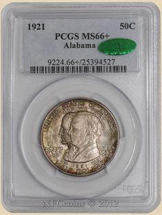 1921 Alabama 50c MS66+ PCGS, obverse ~ CAC