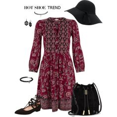 Bohemian Fashion by lwilkinson on Polyvore featuring Monsoon, Wet Seal, French Sole FS/NY, Vince Camuto, David Yurman, Mixit, women's clothing, women's fashion, women and female