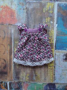 Cap sleeve blouse for Blythe - purple Liberty by moshimoshistudio