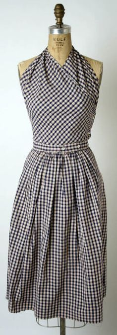 Another version of this adorable 1943 sundress by Claire McCardell (I couldnt decide between the two.)