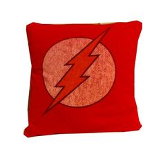 The Flash superhero recycled t-shirt pillow throw cotton tshirt throw pillow cushion. $25.00, via Etsy.
