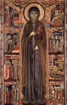 """""""Altarpiece of St. Clare,""""  probably commissioned by the Clarissan sisters of the monastery of Aanta Chiara, Assisi. 1280s. (Unknown painter.)"""
