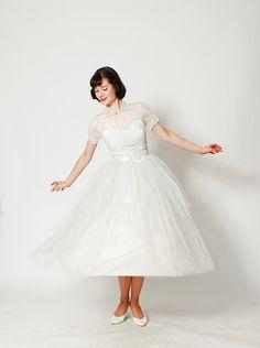 50s Lace Wedding Dress  1950s Wedding Dress   by concettascloset, $368.00