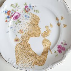 Dot Art Painting, Mandala Painting, Pottery Painting, Mandala Art, Arts And Crafts, Diy Crafts, Cereal Bowls, Decoupage, Decorative Plates