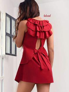 Μίνι ρομαντικό φόρεμα με φρου φρου στο χρώμα του κρασιού απο βαβμακερή ποπλίνα! ΜΟΝΟ 20 € Δες το εδώ --> http://mikk.ro/ZbE