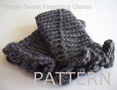 Ravelry: Simply Sweet Fingerless Gloves pattern by KUWA Yoshiko Kuwabara