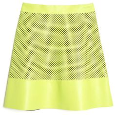 Proenza Schouler Perforated Leather Skirt ($1,650) ❤ liked on Polyvore