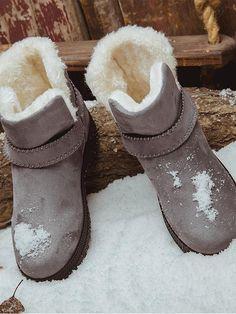0d7034393 【Big Sale!】 [Quality] Waterproof Spuer Soft Snow Boots Fur Plush Insole  Ankle Boots
