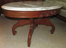 Merveilleux Vintage Oval Marble Top Coffee Table $175 Or Best Offer