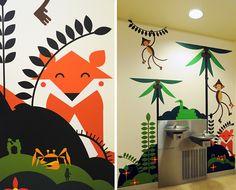 BLIK-designed graphics for the Mattel Children's Hospital UCLA