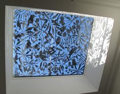 Laser cut skylight screen (stainless steel) - Australian Bush Design << laser skylight foliate vine stars5