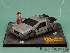 Delorean Back to the Future Cake