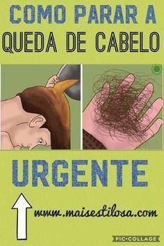 COMO PARAR A QUEDA DE CABELO URGENTE! #quedadecabelo Rapunzel, Alternative Medicine, Hair Hacks, Natural Health, Body Care, Your Hair, Shampoo, Hair Care, Beauty Hacks