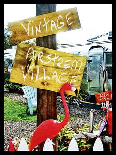 Vintage airstream village in Tampa, Fl