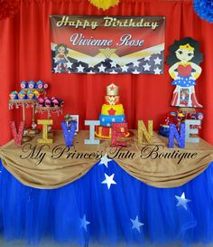 Girls superhero birthday party ideas.