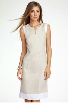 Summer Dresses 2018 Trends and more than 60 great ideas! Simple Dresses, Beautiful Dresses, Casual Dresses, Short Dresses, Dresses For Work, Summer Dresses, Frock Fashion, Fashion Dresses, Linen Dresses