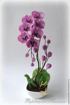 Мобильный LiveInternet Орхидея из бисера. Работы мастера и МК | zhanna-87 - Дневник zhanna-87 |