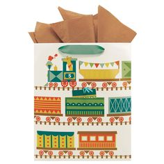 All Aboard Party Train Gift Bag (Large) - Train Party
