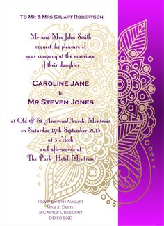 Rani Wedding Invitation By Lila Engel