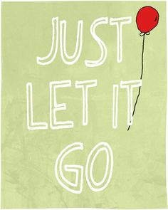 Motivational art print inspirational room decor, let it go quote, typography art, archival poster reproduction , open edition. $15.00, via Etsy.