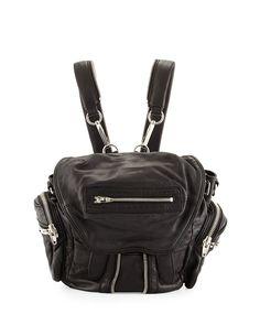 Mini Marti Washed Lambskin Backpack, Black - Alexander Wang