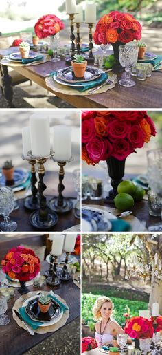 Spanish-inspired, ranch style wedding. The colors are vintage touches are right up my alley.