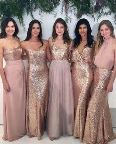 40+ Best Rose gold bridesmaid dresses