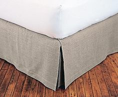 Look for a tailored bedskirt in medium grey (same tone as sheets or same color as sheets) straight bedskirt - Google Search