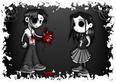 Create and share sad emo cartoon graphics and comments with friends. Amor Emo, Emo Kunst, Emo Love Cartoon, Emo Cartoons, Emo Pictures, Sad Love Stories, Emo Wallpaper, Gothic Wallpaper, Grunge