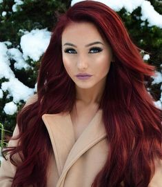 87 unique ombre hair color ideas to rock in 2018 - Hairstyles Trends Burgundy Red Hair, Burgendy Hair, Red Ombre Hair, Dark Red Hair, Long Red Hair, Red Hair Color, Vibrant Red Hair, Hair Colors, Color Red