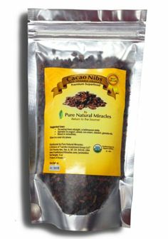 Cacao Nibs Raw Organic - Raw Cacao Nibs Organic from Cacao Beans - Health Benefits of Dark Chocolate: Highest Antioxidant Superfoods, Heart Health, Cardiovascular Health, Aphrodisiac for Men & Women - Raw Cocoa Nibs - Unsweetened Cacao Nibs - Add to Smoothie Recipes, Chocolate Milkshake, Diabetic Food & Diabetic Desserts - Guaranteed Highest quality! Pure Natural Miracles,http://www.amazon.com/dp/B00IX3LPWS/ref=cm_sw_r_pi_dp_T2pntb0HAVK52T33