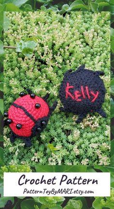 PATTERN - crochet ladybug, amigurumi toys bugs, pdf, knitted soft toy beetle, stuffed ladybug, amigurumi insect pattern