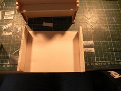 Miniature Piano workshop. Step no.13  Apply some paste to the sides