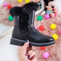 Cizme copii Primavera negre Olivia Black, Ugg Boots, Ballerina, Uggs, Biker, Casual, Shoes, Fashion, Moda