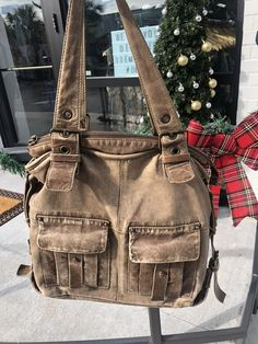 Francesco Biasia Italian Leather Handbag Brown Tan Purse Distressed Boho   fashion  clothing  shoes f0dfd4403c4
