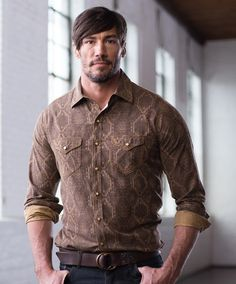 Men's Ryan Michael Aztec Jacquard at Maverick Western Wear