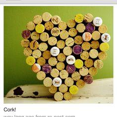 Cork heart coaster