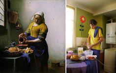 """""""La laitière"""" de Johannes Vermeer, por Justine Rioufrait"""